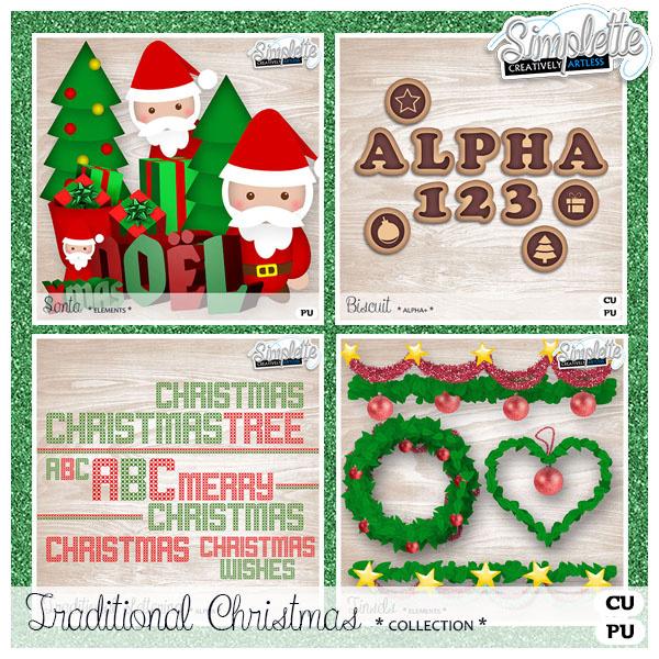 "Collection ""Tradition"" pour Noël - packs CU"